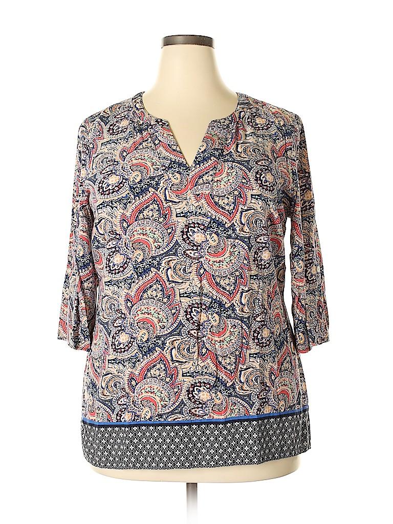 Croft & Barrow Women 3/4 Sleeve Blouse Size XL