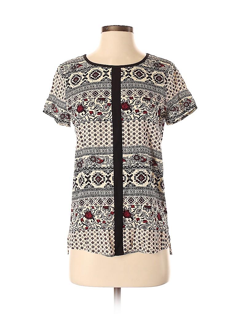 Le Sample Women Short Sleeve Blouse Size XS