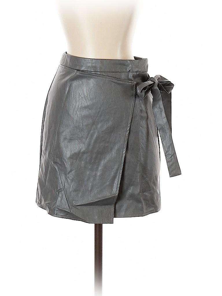 SEEK The Label Women Faux Leather Skirt Size S