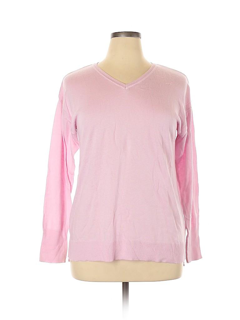 Ava & Viv Women Pullover Sweater Size 1X (Plus)