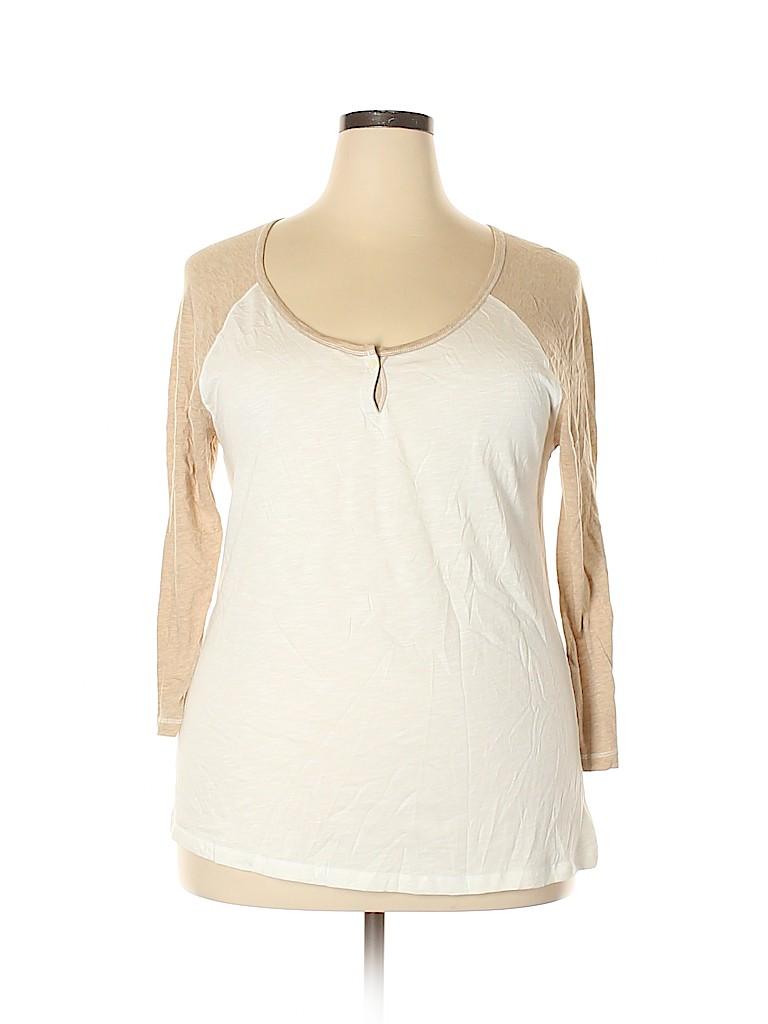 Vintage 1 Women 3/4 Sleeve Henley Size XL