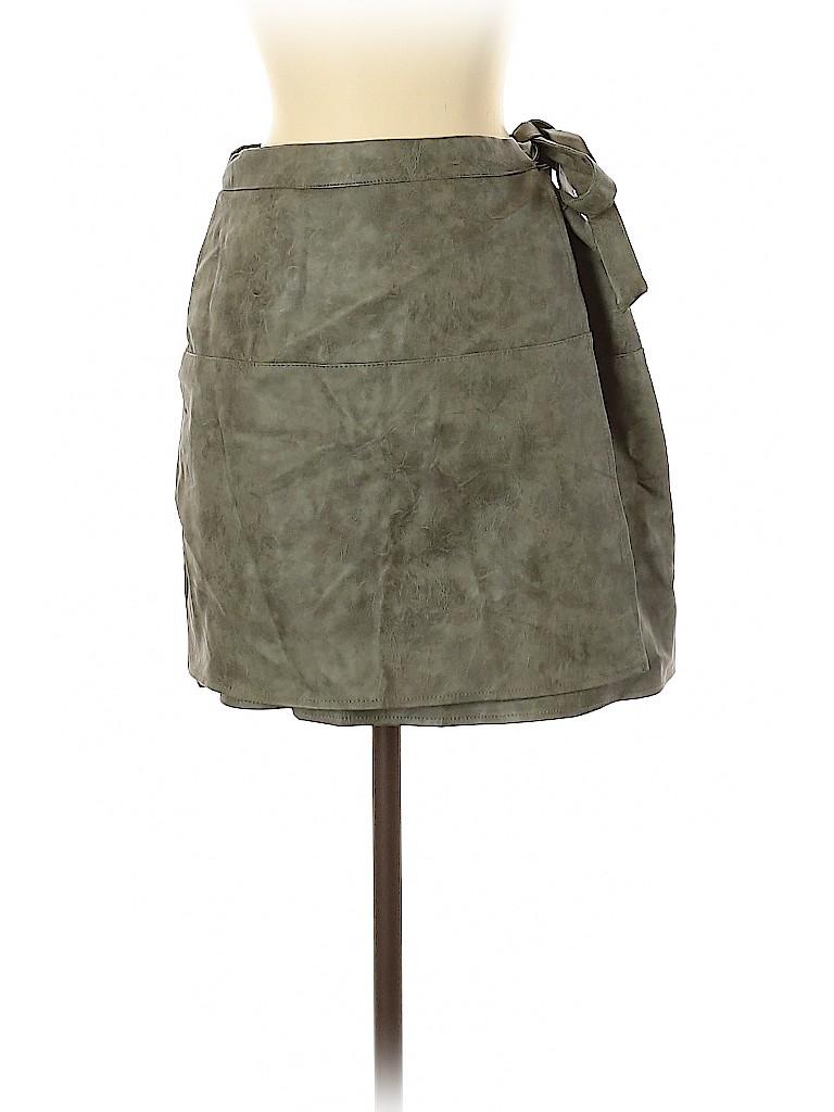 Mint Vanilla Women Faux Leather Skirt Size 10