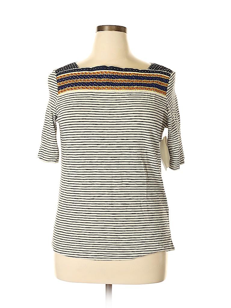 Tory Burch Women Short Sleeve Top Size XL