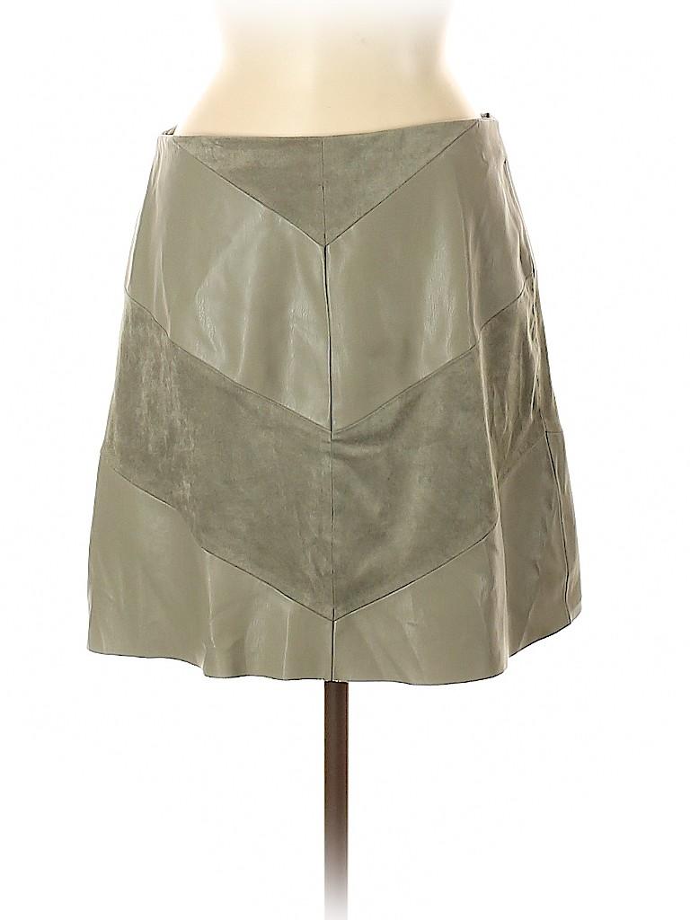 Zara Basic Women Faux Leather Skirt Size M