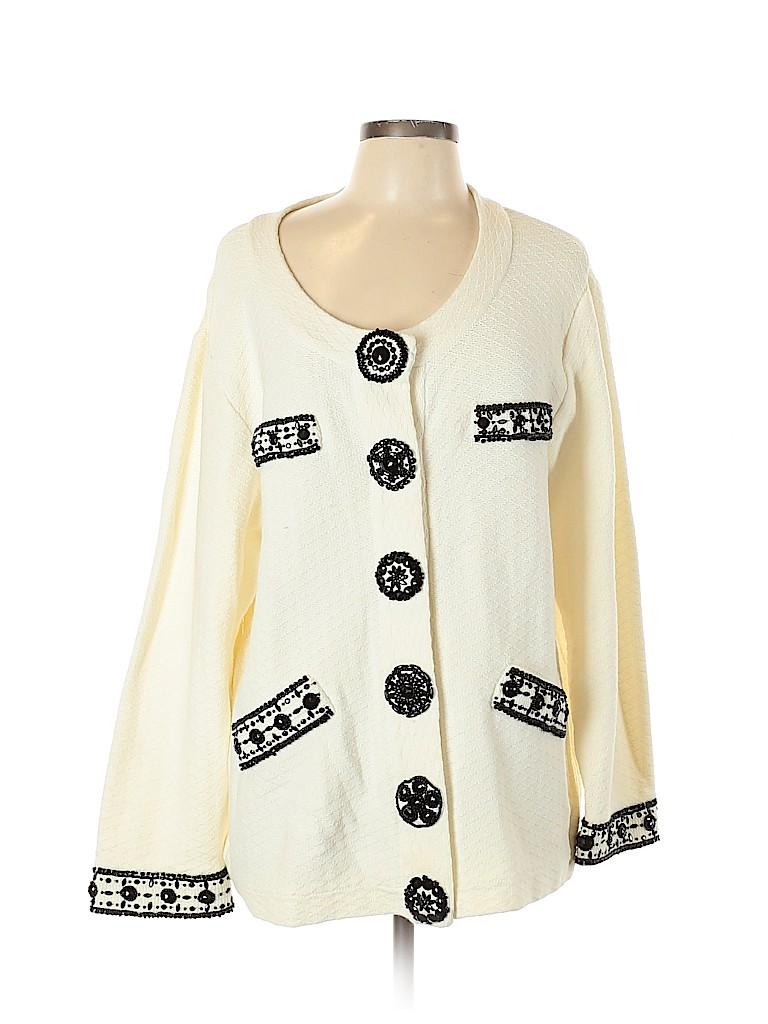 Michael Simon Women Cardigan Size 2X (Plus)