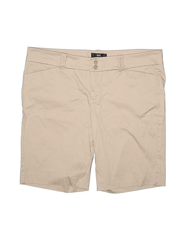 Mossimo Women Khaki Shorts Size 16
