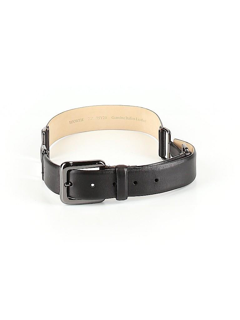 W by Worth Women Leather Belt Size P