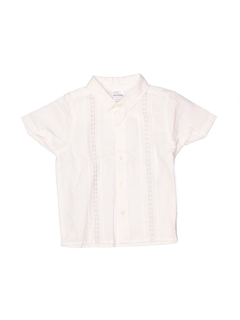 Gymboree Boys Short Sleeve Button-Down Shirt Size 18-24 mo