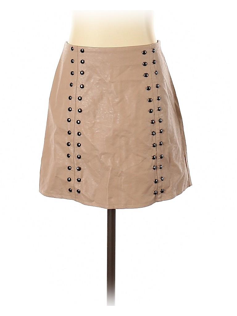 Mint Vanilla Women Faux Leather Skirt Size 8