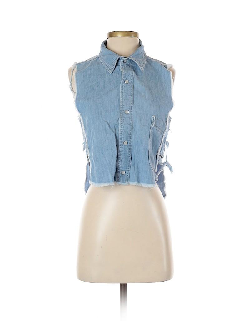 Carmar Women Short Sleeve Button-Down Shirt Size M