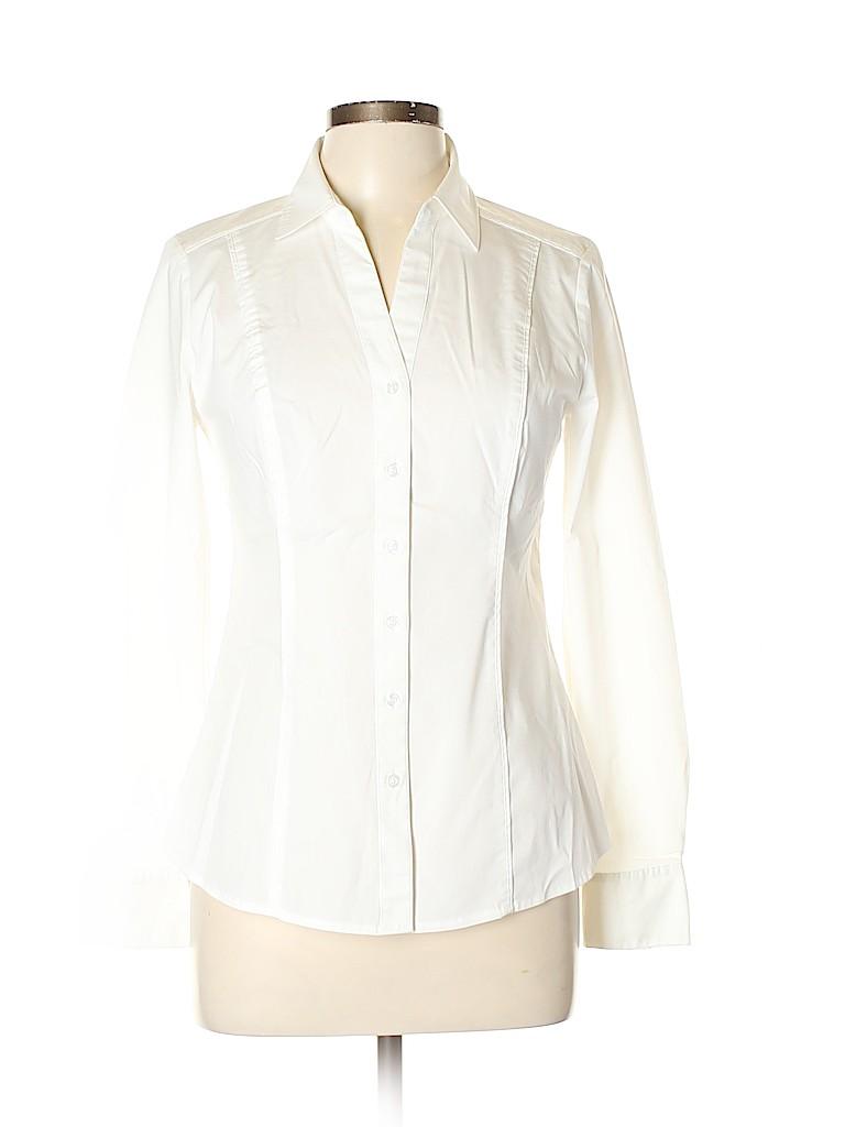 White House Black Market Women Short Sleeve Blouse Size 8