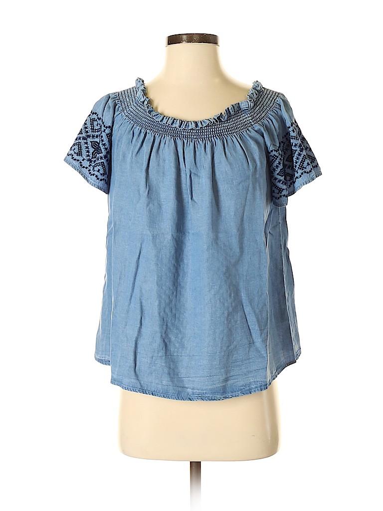 Jasmine & Juliana Women Short Sleeve Blouse Size S