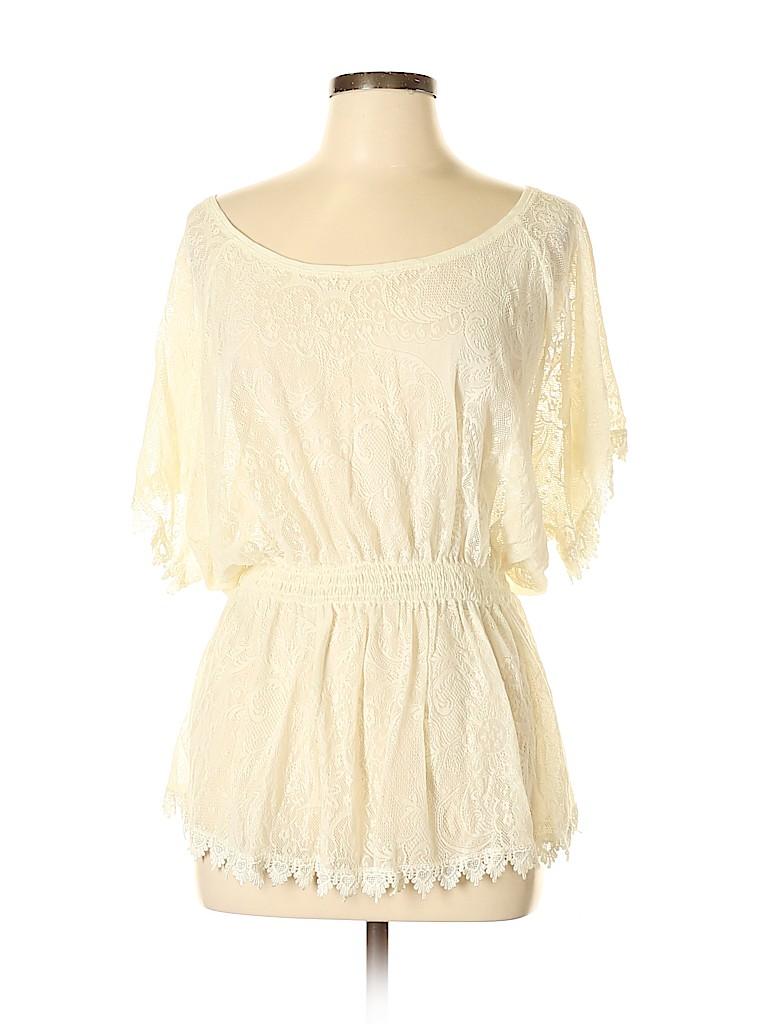 Frenchi Women Short Sleeve Top Size L