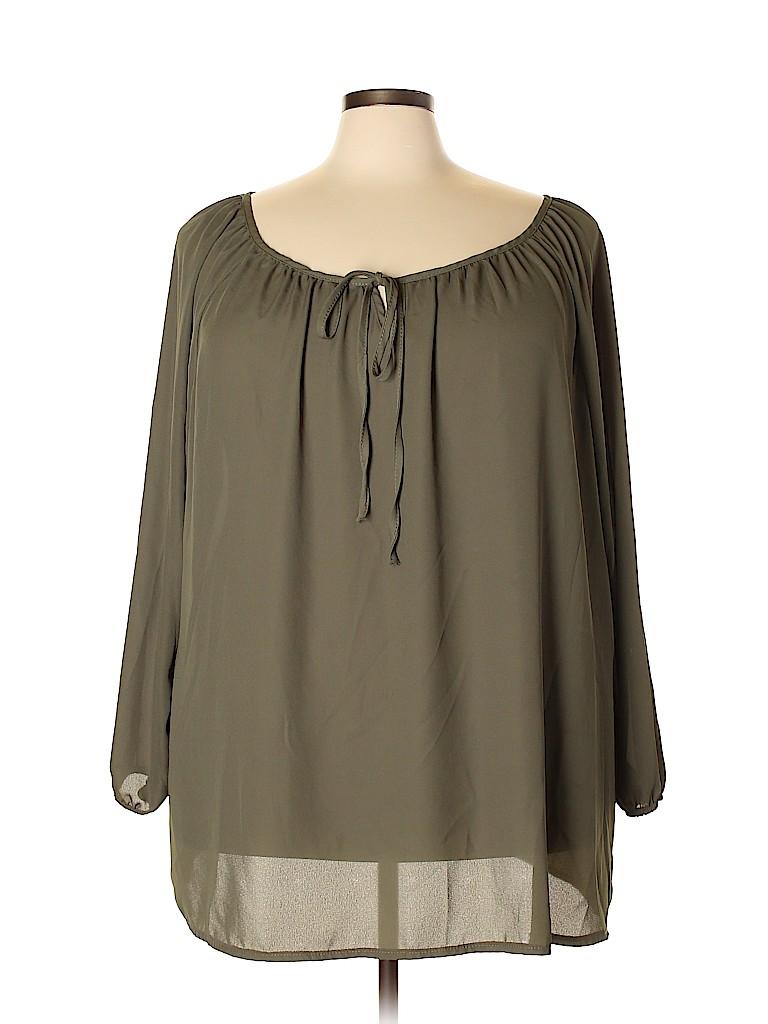 Ashley Stewart Women 3/4 Sleeve Blouse Size 26 - 28 Plus (Plus)