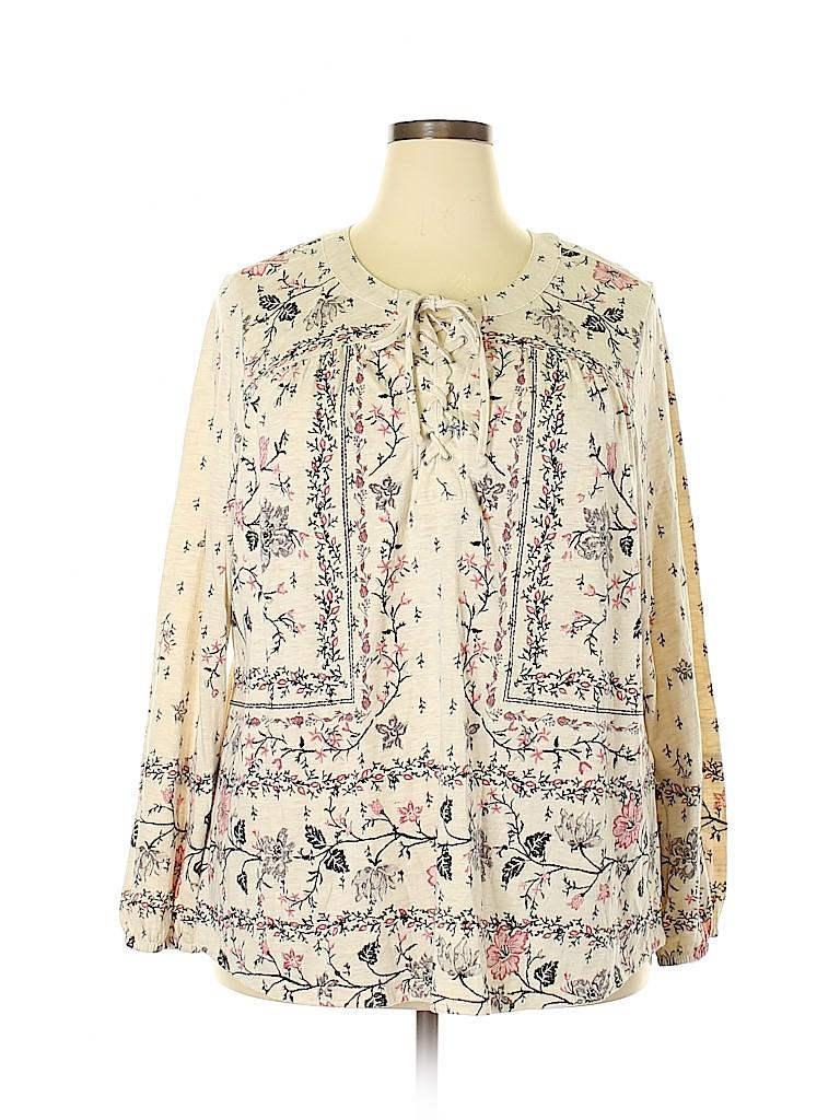 Style&Co Women 3/4 Sleeve Top Size 3X (Plus)
