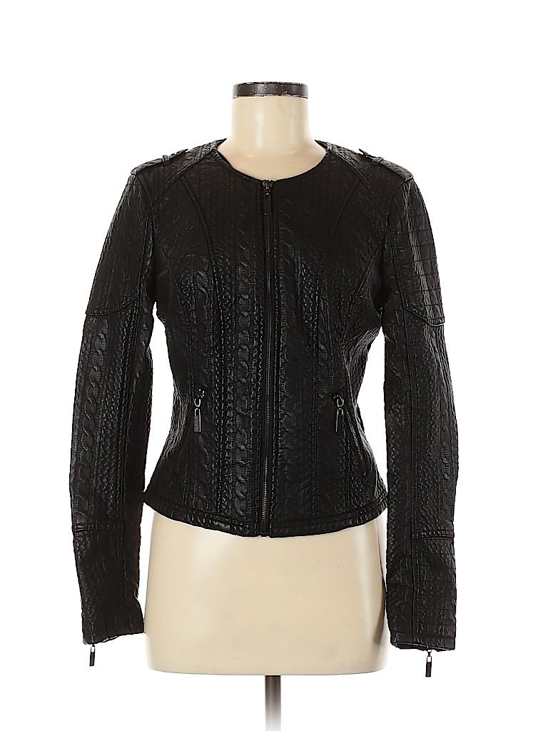 BNCI by Blanc Noir Women Faux Leather Jacket Size M