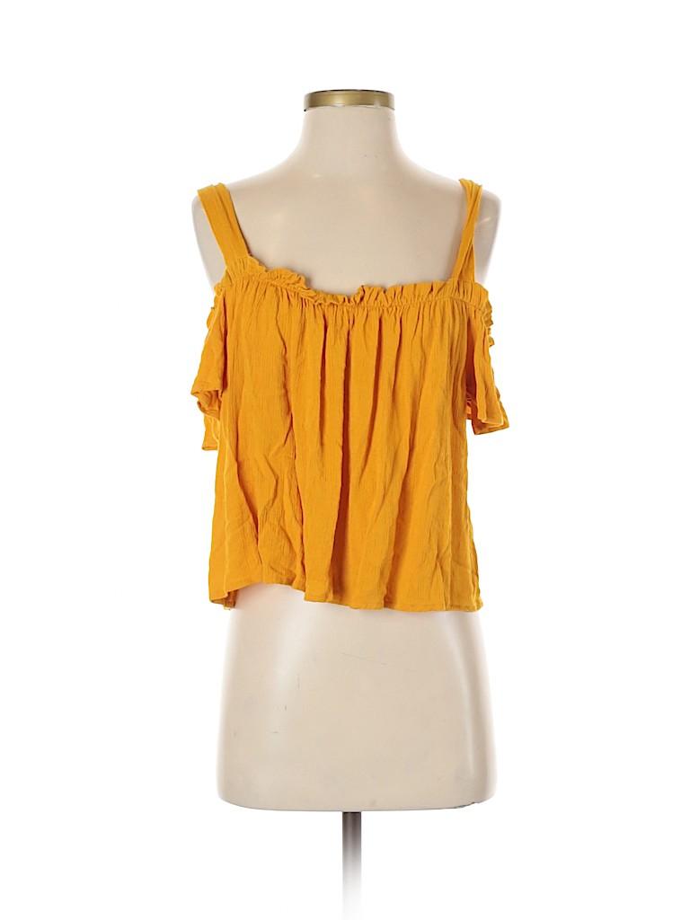 Calliope Women Short Sleeve Blouse Size L