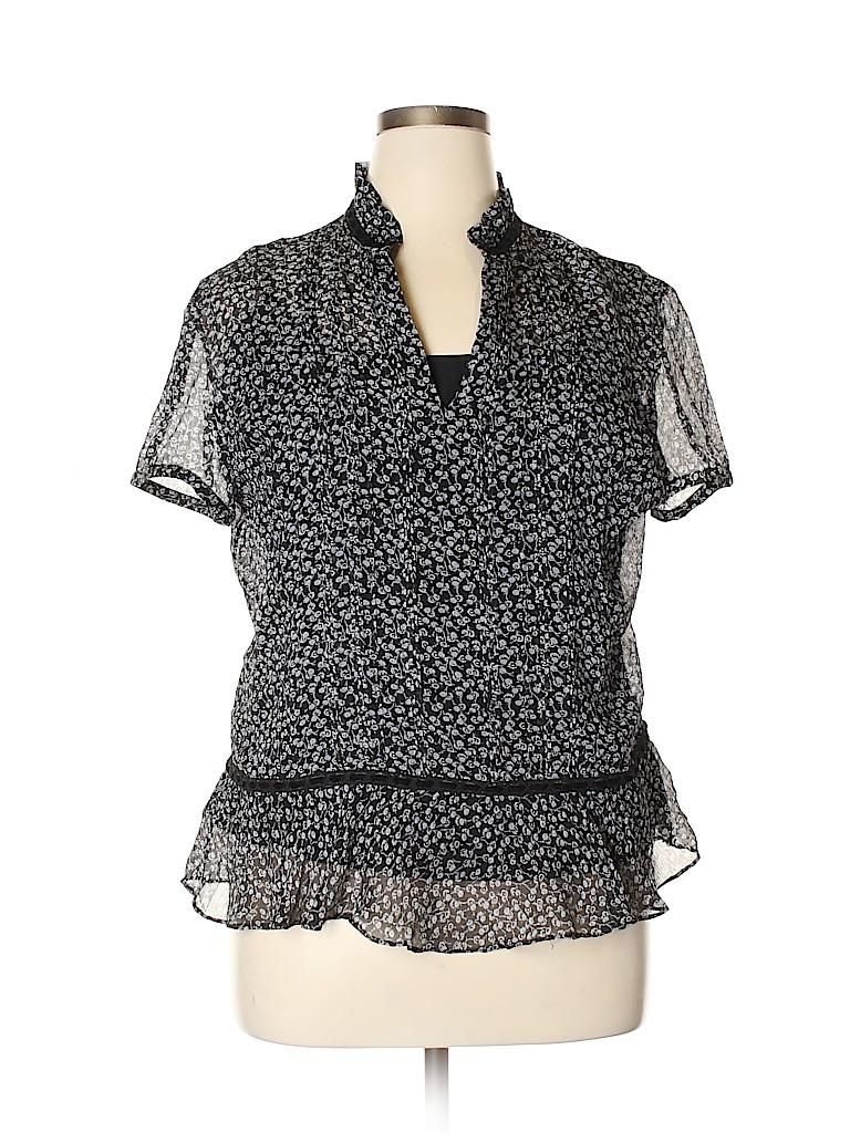 Ann Taylor Women Short Sleeve Silk Top Size 16