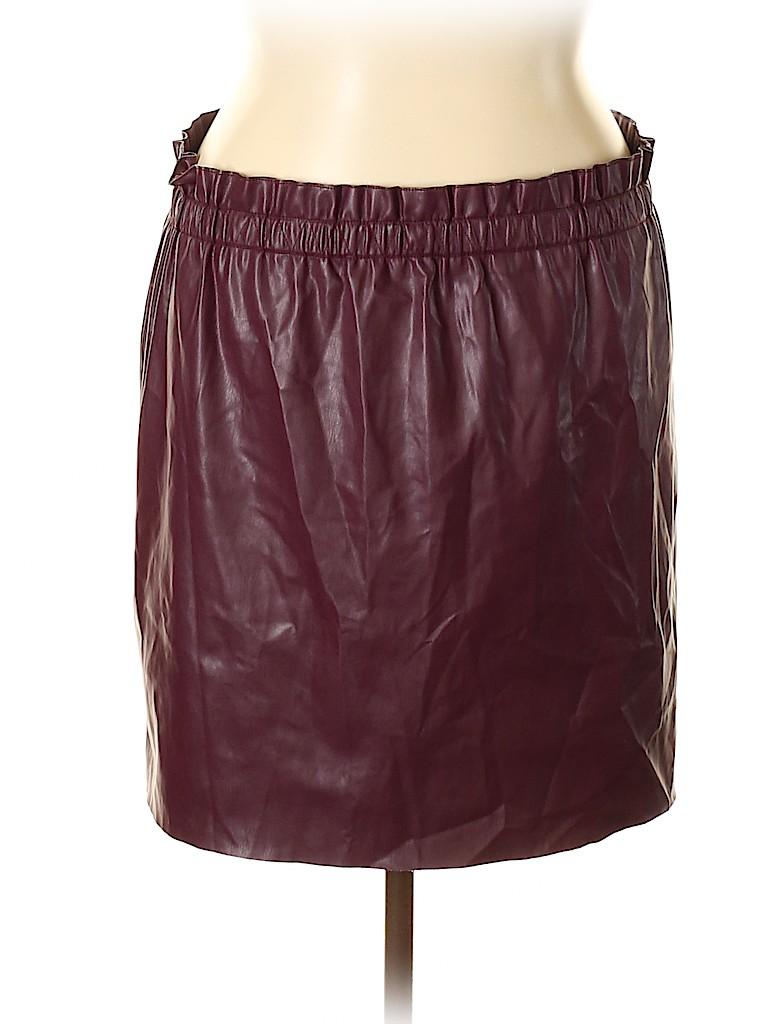 Ann Taylor LOFT Women Faux Leather Skirt Size XL