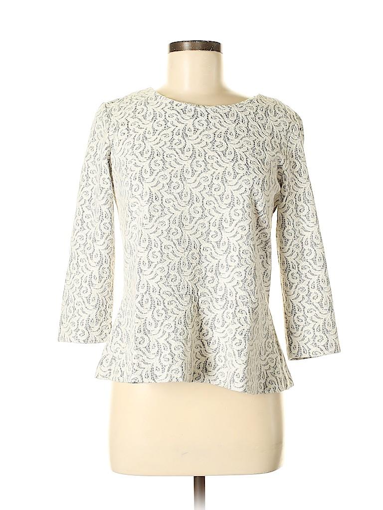 J. Crew Women 3/4 Sleeve Blouse Size M