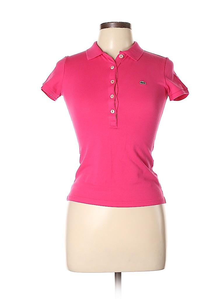 Lacoste Women Short Sleeve Polo Size 36 (EU)