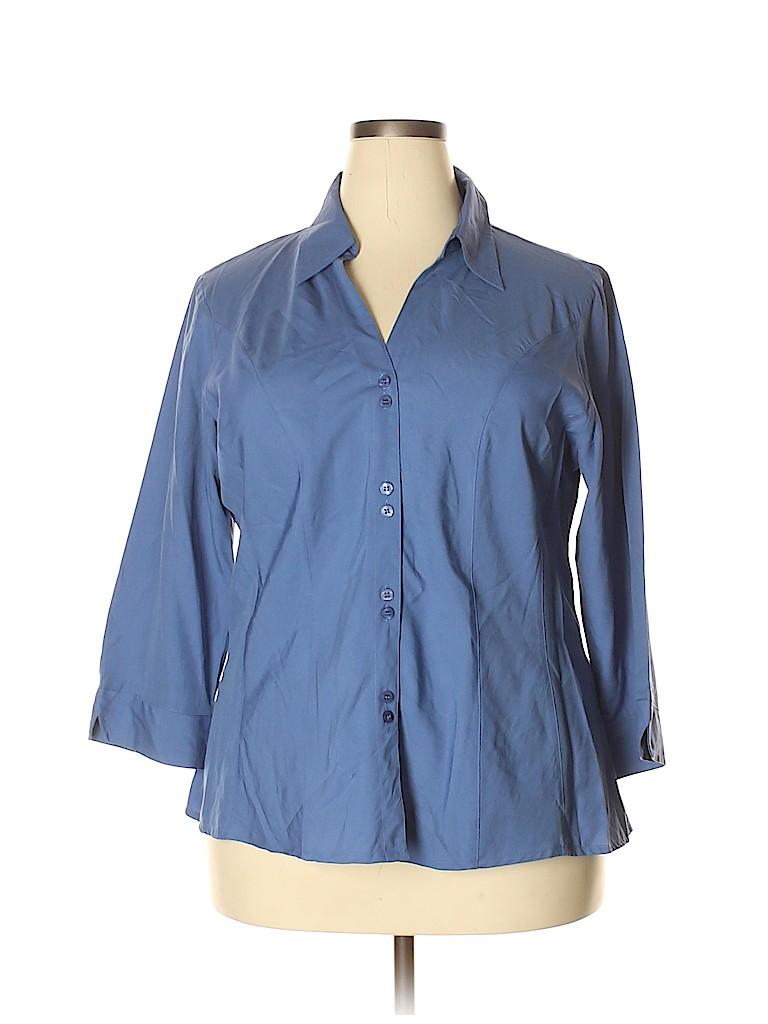 DressBarn Women 3/4 Sleeve Blouse Size 18 (Plus)