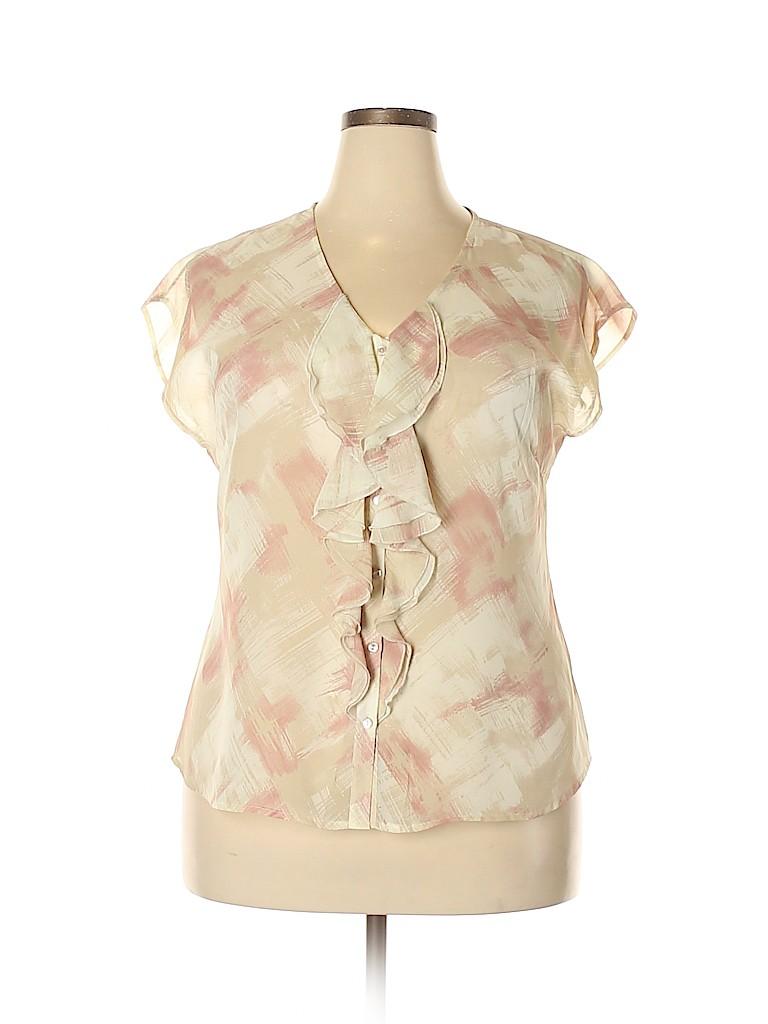 Relativity Women Short Sleeve Blouse Size XL