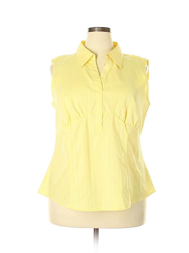 Cato Women Sleeveless Button-Down Shirt Size 22 - 24 (Plus)
