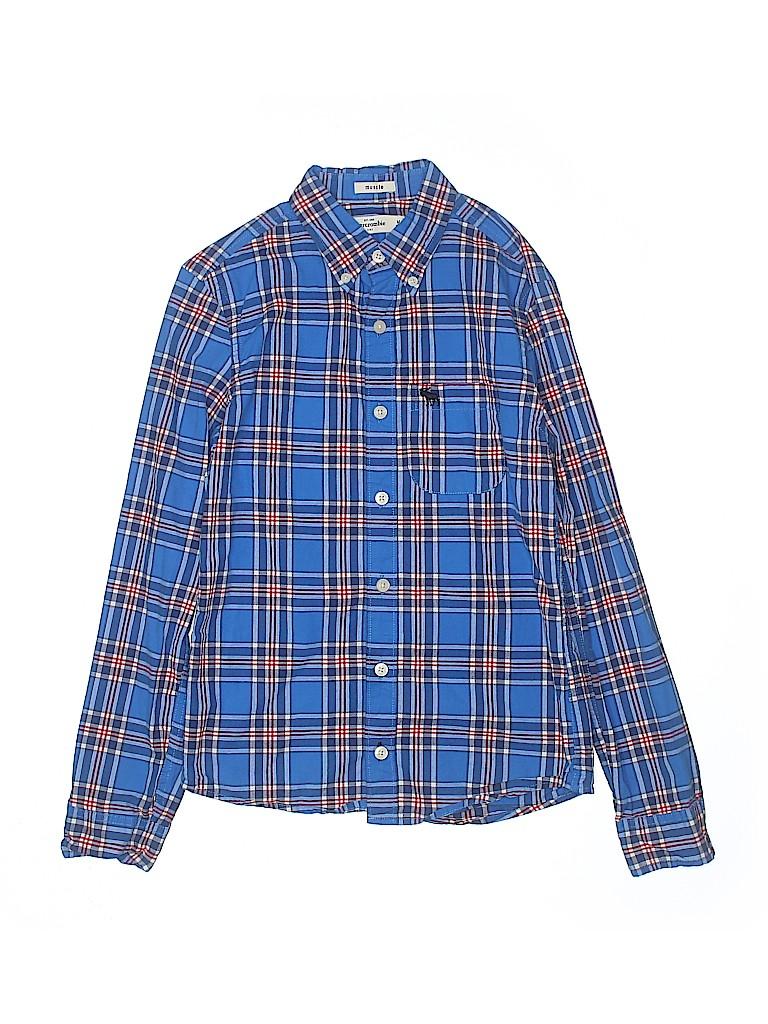 Abercrombie Boys Long Sleeve Button-Down Shirt Size M (Kids)
