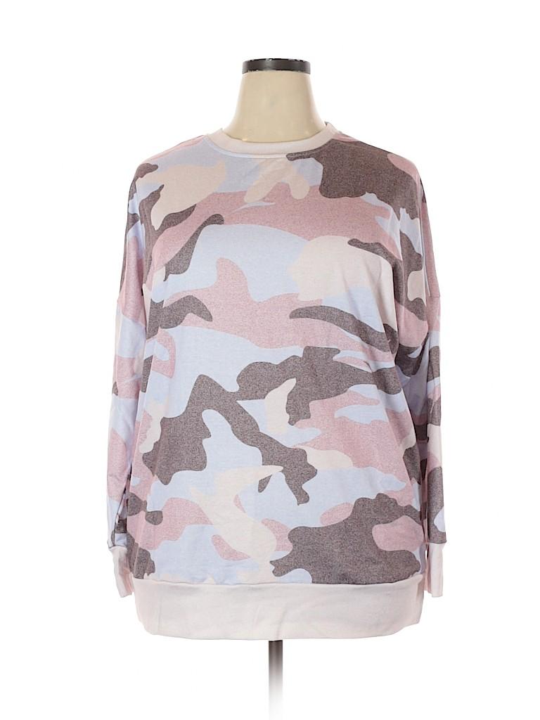 Unbranded Women Sweatshirt Size 2X (Plus)