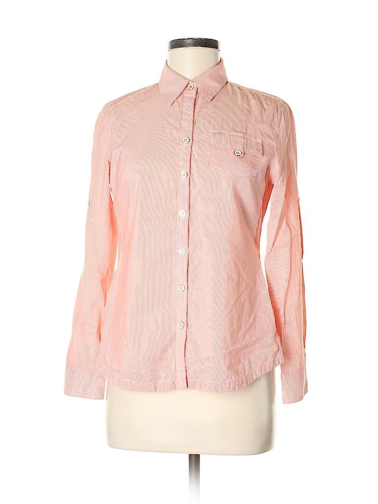 Banana Republic Women Long Sleeve Button-Down Shirt Size S
