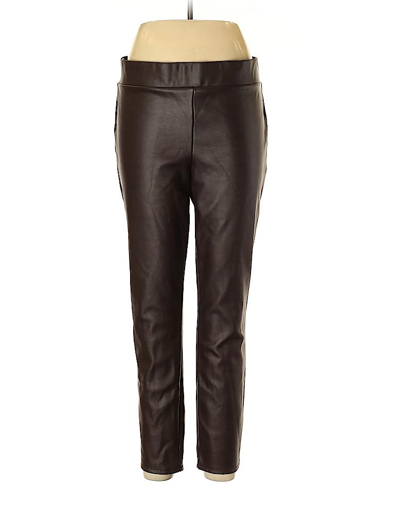 Ann Taylor LOFT Women Faux Leather Pants Size XL