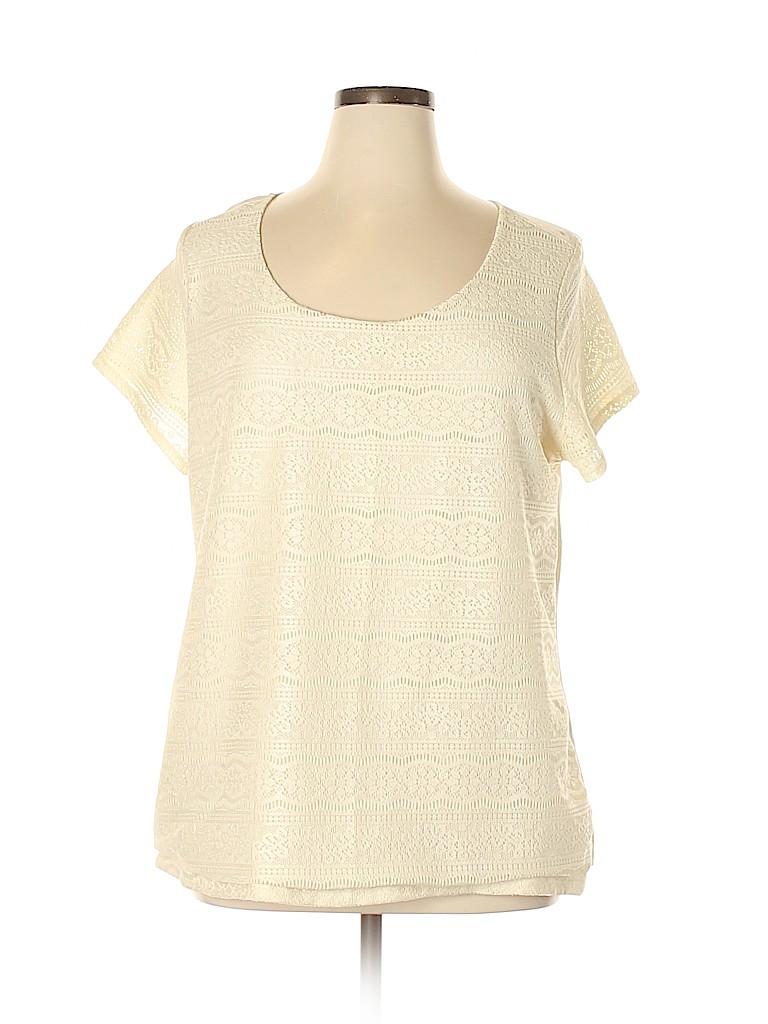 Merona Women Short Sleeve Top Size L