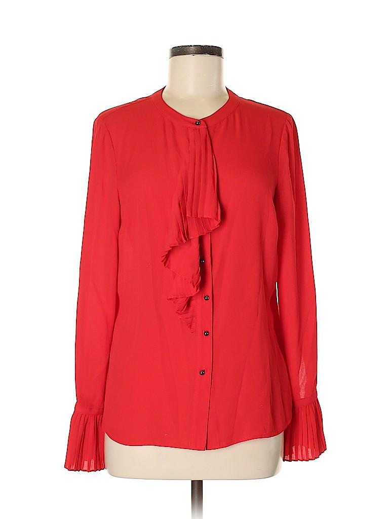 Eva Longoria Women Long Sleeve Blouse Size S