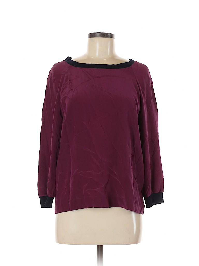 J. Crew Women 3/4 Sleeve Silk Top Size 6