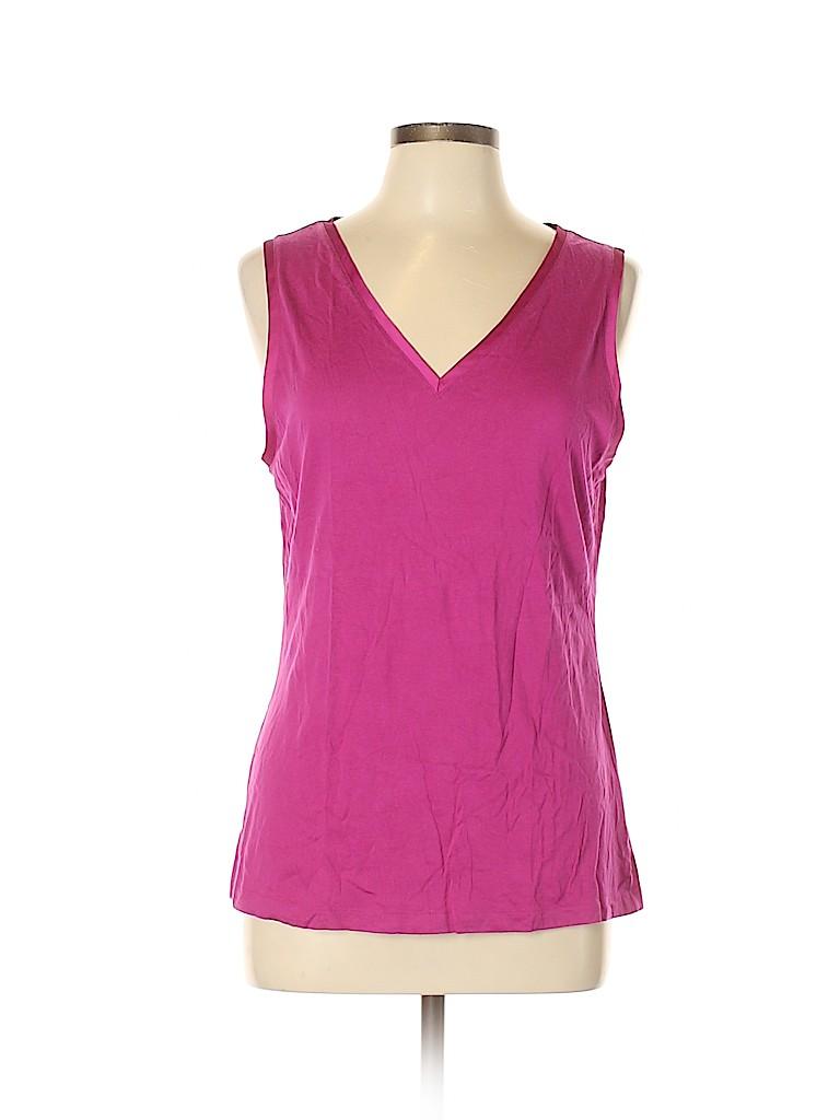 Banana Republic Women Sleeveless T-Shirt Size L
