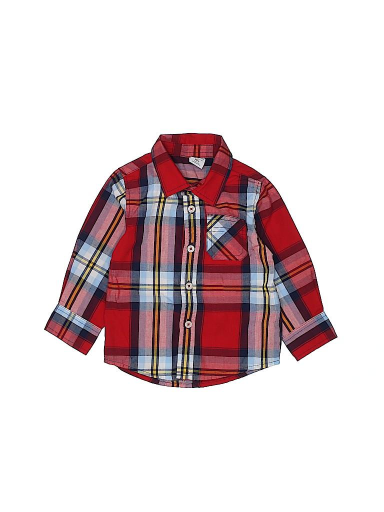 Healthtex Boys Long Sleeve Button-Down Shirt Size 18 mo