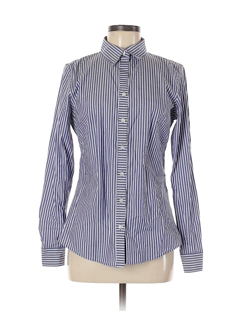 Ann Taylor LOFT Women Long Sleeve Button-Down Shirt Size 8