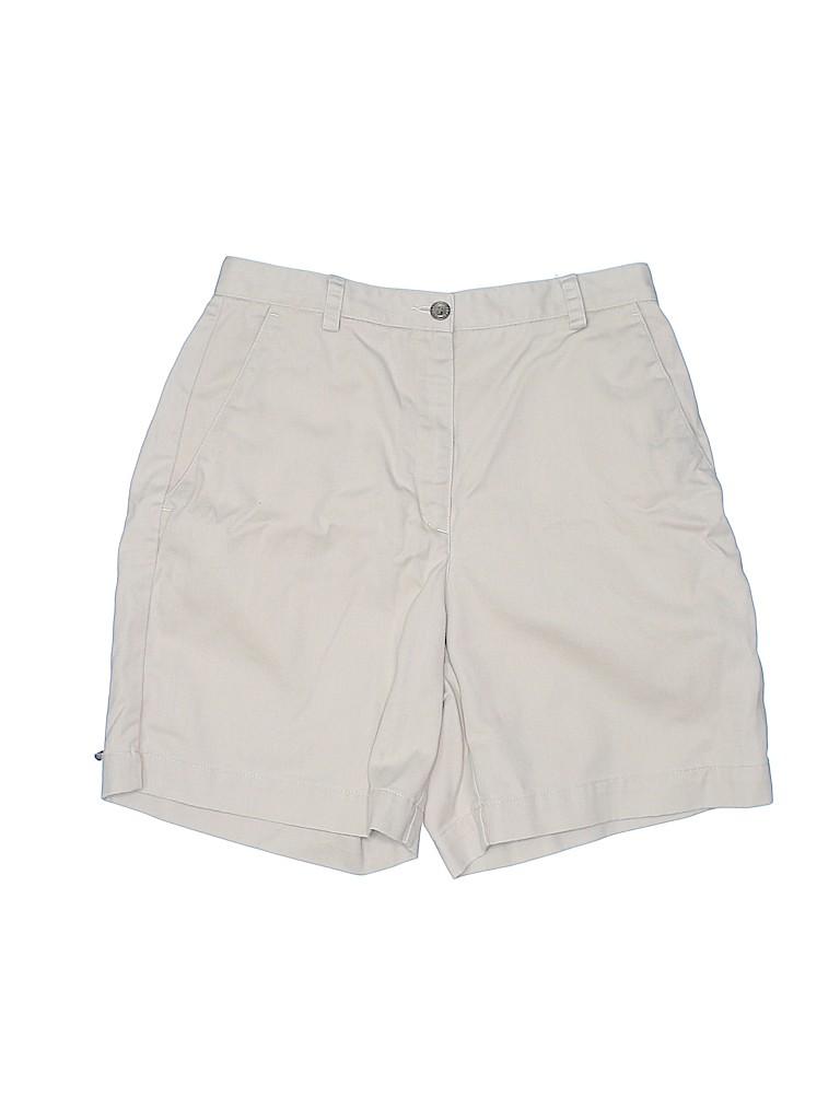 Liz Claiborne Women Khaki Shorts Size 4