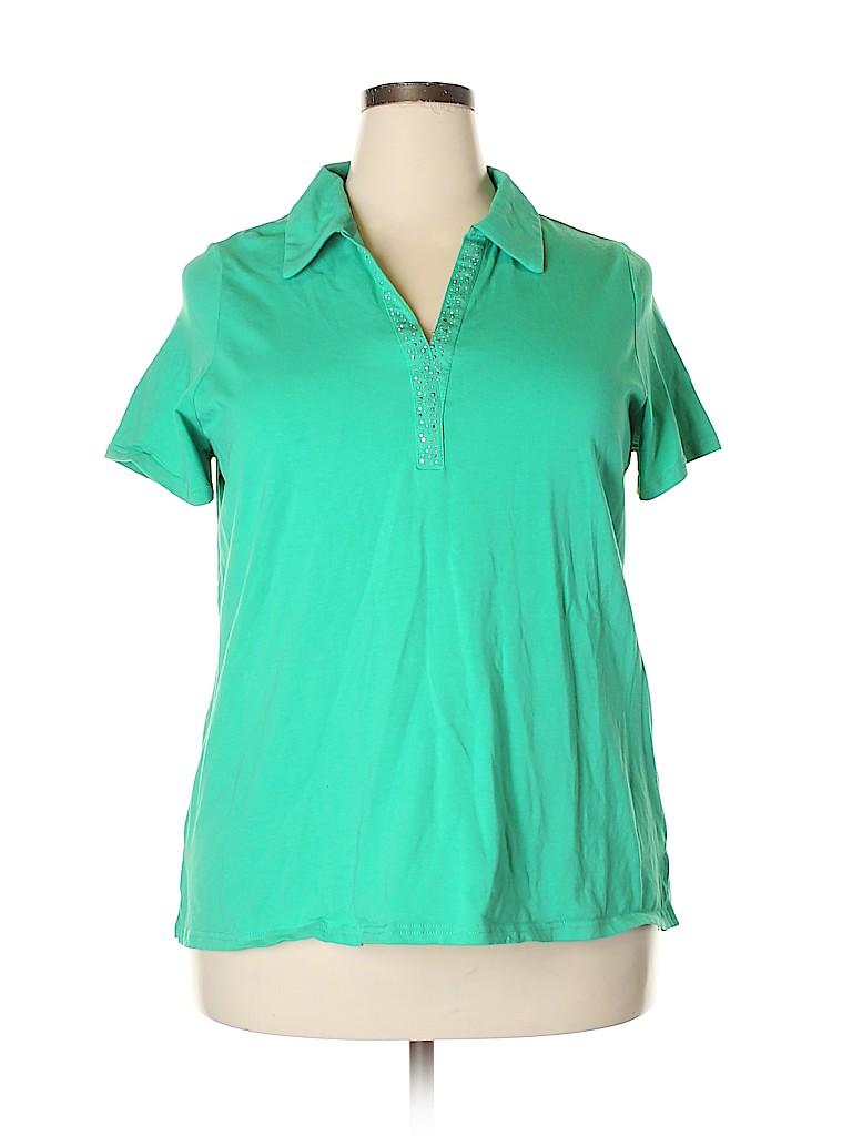 Avenue Women Short Sleeve Polo Size 18 - 20 Plus (Plus)