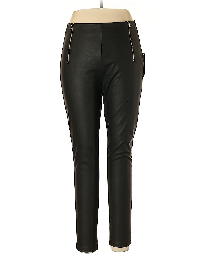 Zara Basic Women Faux Leather Pants Size XL