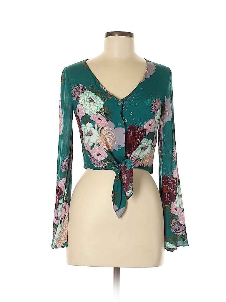 Rue21 Women Long Sleeve Blouse Size S