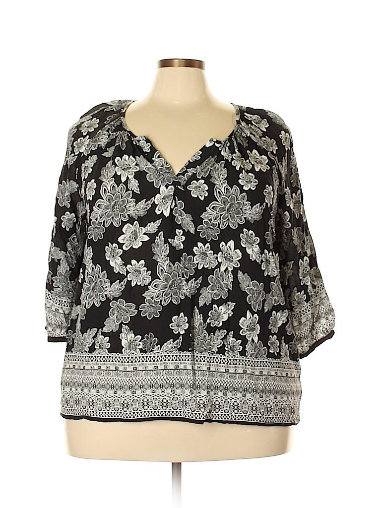 Ava Christine Women 3/4 Sleeve Blouse Size 2X (Plus)
