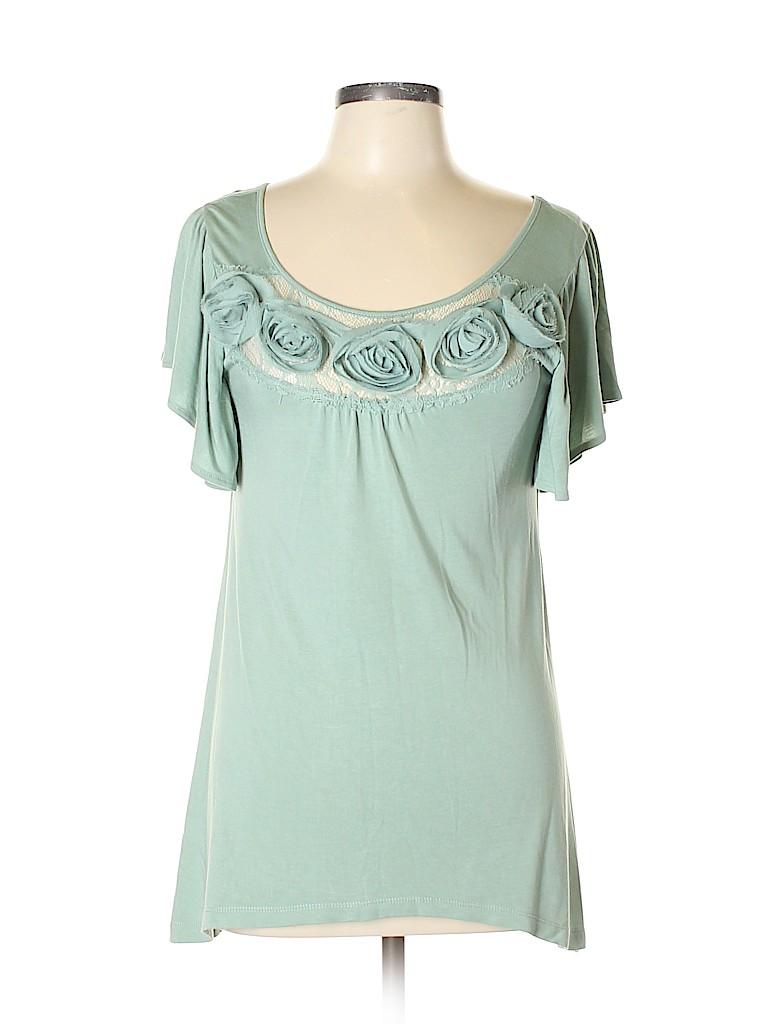 Design History Women Short Sleeve Top Size M