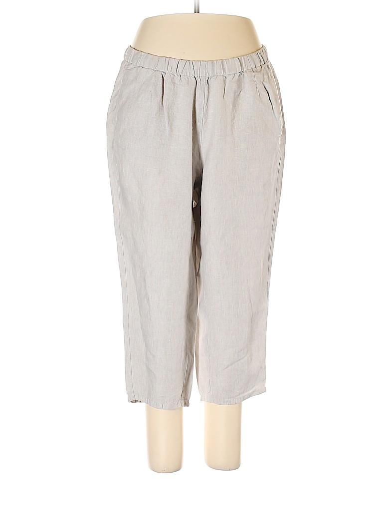 J.jill Women Linen Pants Size 1X (Plus)