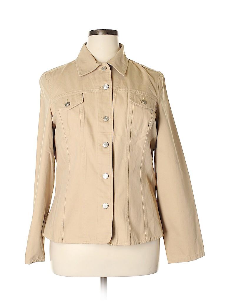 Lane Bryant Women Denim Jacket Size 14 (Plus)