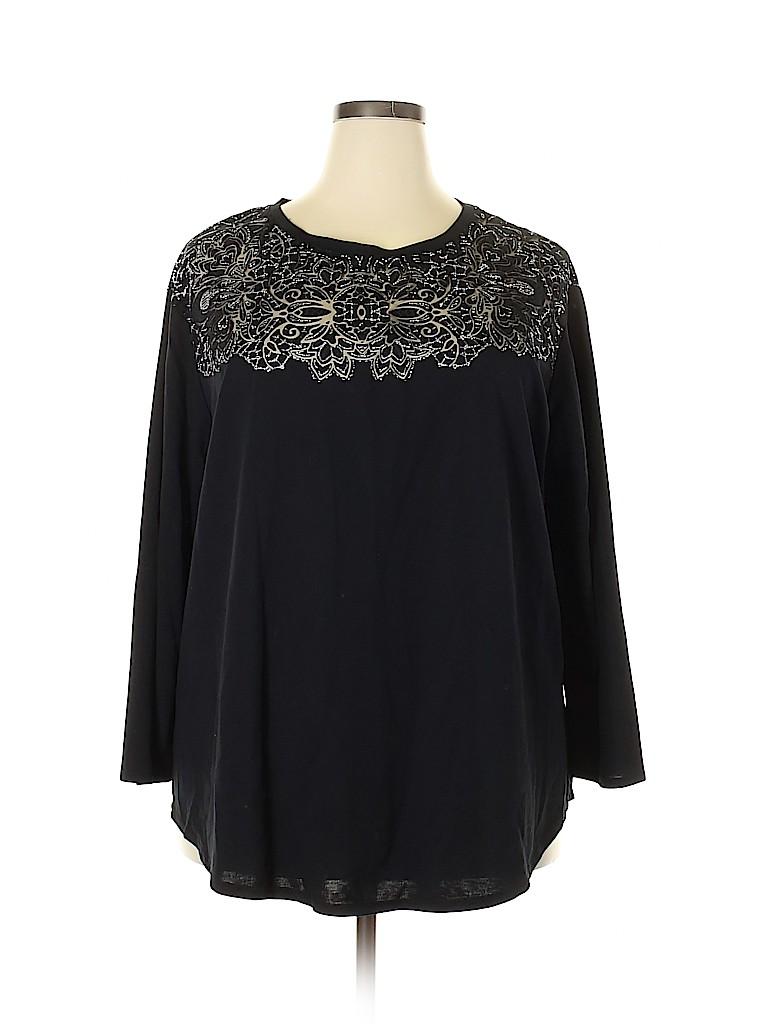 Ava & Viv Women Long Sleeve Blouse Size 2X (Plus)