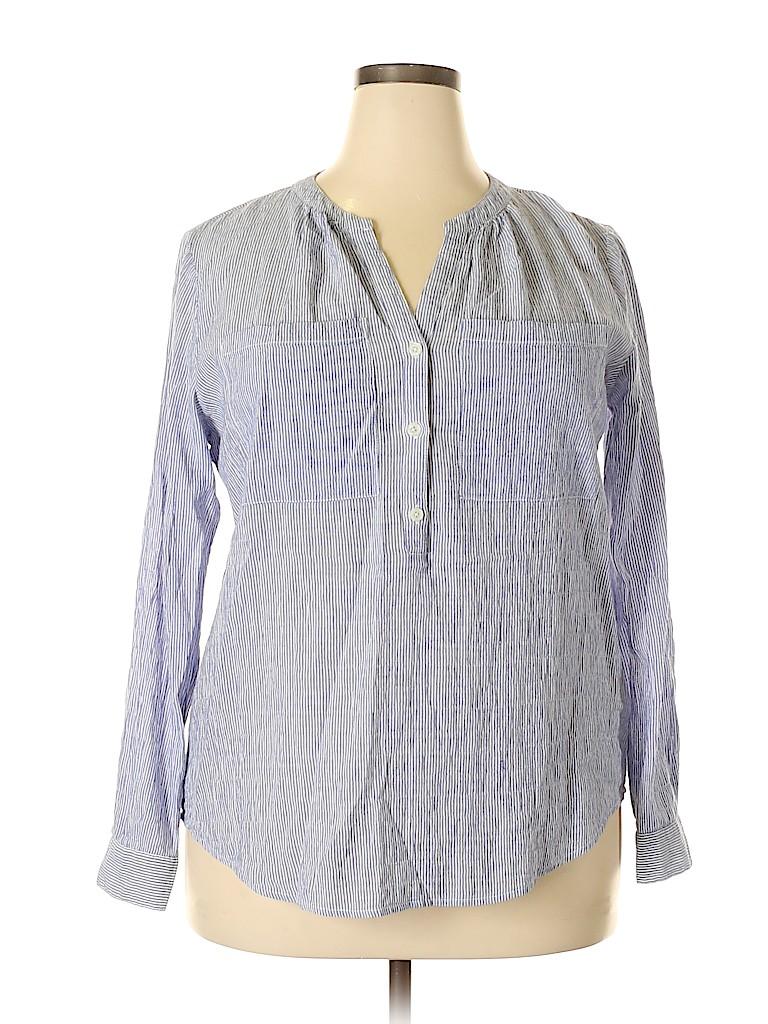 MICHAEL Michael Kors Women Long Sleeve Button-Down Shirt Size XL