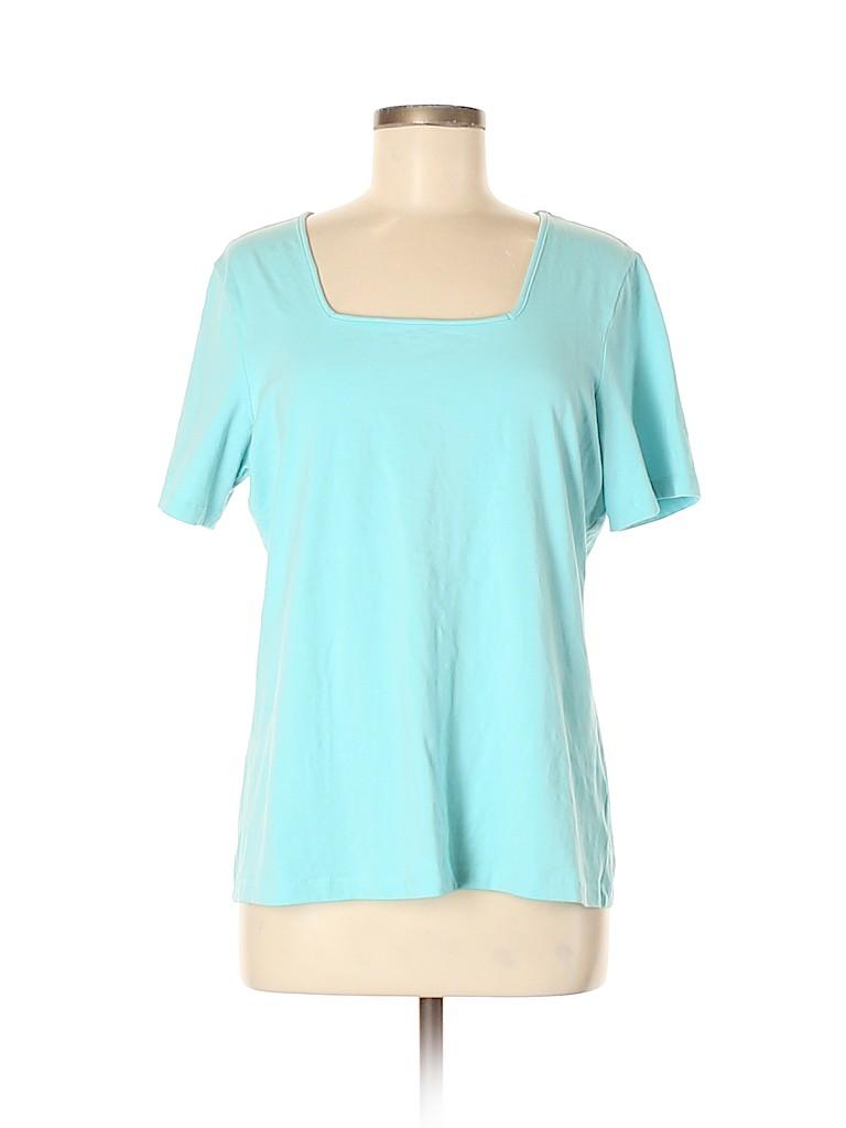 Denim & Co Women Short Sleeve T-Shirt Size M