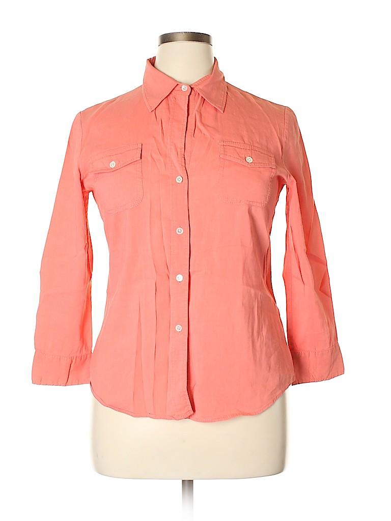Theory Women Long Sleeve Button-Down Shirt Size L